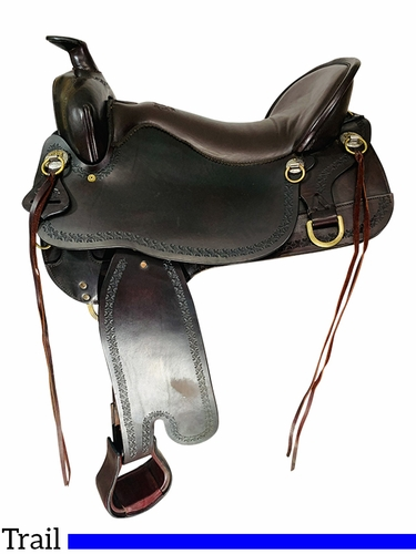 SOLD 2021/10/10 18.5Inch Used Tucker Big Bend Trail Saddle T93 *Free Shipping*