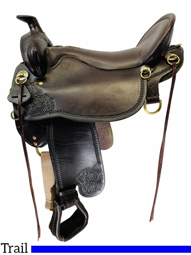 SOLD 2021/03/11 18.5Inch Used Tucker High Plains Trail Saddle T60 *Free Shipping*
