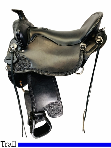 SOLD 2021/04/22  18.5Inch Used Tucker High Plains Trail Saddle T60 *Free Shipping*