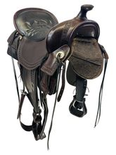 SOLD 2021/06/01 18.5Inch Used Tucker Old West Trail Saddle 277 *Free Shipping*