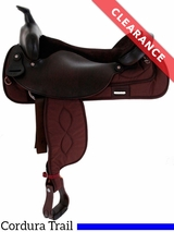 "18"" Black Big Horn Synthetic Trail Saddle 256 CLEARANCE"