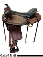 PRICE REDUCED! 18 Inch Used Big Horn Western Flex Gaited Saddle 1684 *Free Shipping*