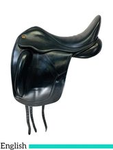 SOLD 2020/10/03  18 Inch Used Fairfax Gareth Monoflap Dressage Saddle 032 0108 *Free Shipping*