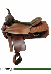 18 Inch Used Jack Foster Saddlery Cutting Saddle  *Free Shipping*