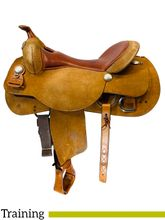 SOLD 2021/10/21  PRICE REDUCED! 18 Inch Used Reinsman Training Saddle  *Free Shipping*