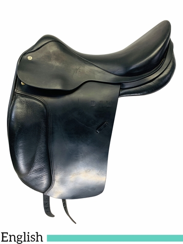 18 Inch Used Spirig St. Gallen Dressage English Saddle 06-414 *Free Shipping*