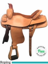 "PRICE REDUCED! 18"" Used Blue Ridge Wide Roping Saddle 5000 usbr3969 *Free Shipping*"