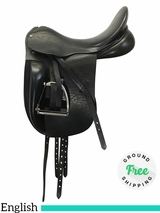 """PRICE REDUCED! 18"""" Used County Fusion English Dressage Saddle uscf42045 *Free Shipping*"""