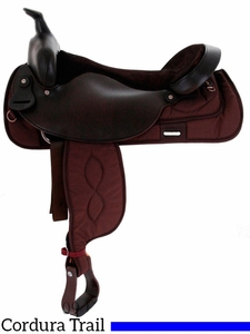 """16""""-19"""" Big Horn Synthetic Trail Saddle 256"""