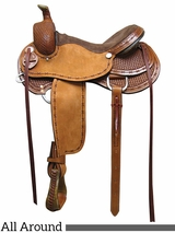 "** SALE **15"" to 17"" South Bend Saddle Co. All Around Saddle 1185"
