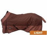 Tough-1 600D Ripstop Poly Water Repellent Horse Sheet in Tooled Leather 34-7125T