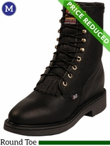 9EE Men's Justin Black Pitstop Boots 763 CLEARANCE