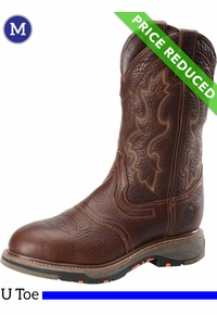 9.5 Wide Men's Double-H Tumbled Briar Roper Boots DH5133, CLEARANCE