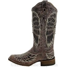 9.5B Women's Corral Brown/Black Wing & Cross Sequence Boots A1197 CLEARANCE
