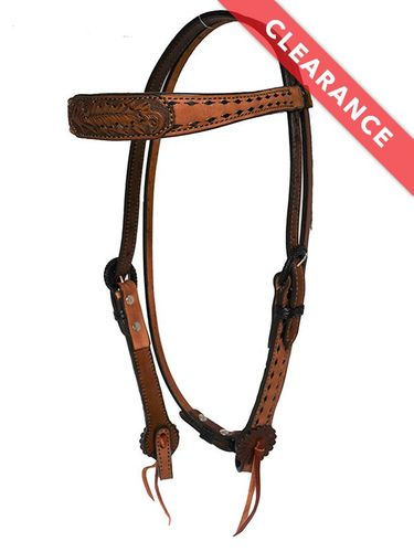 SOLD 2019/06/27 Alamo Engraved Feather Headstall 2800-AO CLEARANCE
