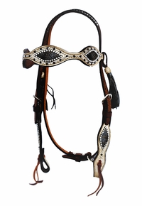 Alamo Painted Headstall with Jewels 2265-BM