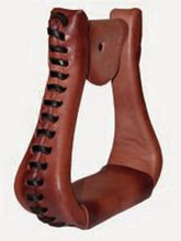 American Saddlery EX-Wide Leather Visalia Stirrups 4281