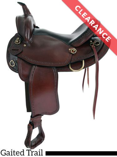 """17"""" Big Horn Texas Best Hill Country Gaited Trail II Saddle 940G, CLEARANCE"""