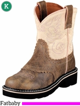 6 Youth Kid's Ariat Brown Bomber Fatbaby Boots 10001995