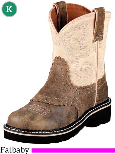6 Youth Kid's Ariat Brown Bomber Fatbaby Boots 10001995 ZDS