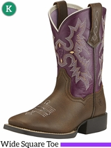 Kid's Ariat Plum Tombstone Boots 10015390