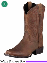 Kid's Ariat Distressed Brown Quickdraw Boots 10004853