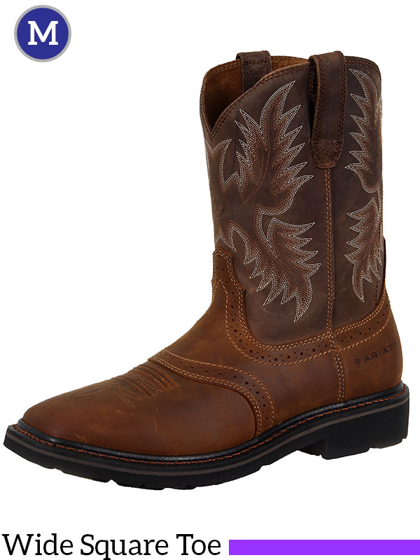 a1f13ddac41 Men's Ariat Aged Bark Sierra Square Toe Boots 10010148