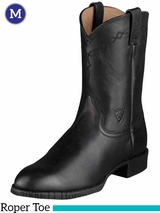 Men's Ariat Black Heritage Roper Boots 10002280