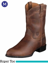 Men's Ariat Distressed Brown Heritage Roper Boots 10002284
