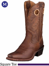 Men's Ariat Heritage Brown Oiled Rowdy Roughstock Boots 10002227