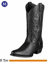 Men's Ariat Heritage Black Deertan Boot 10002218