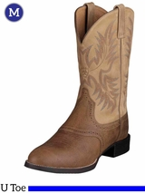 Men's Ariat Tumbled Brown Heritage Stockman Boots 10002247