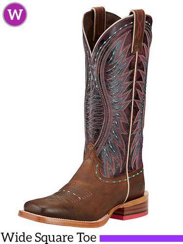 Women's Ariat Vaquera Wide Square Toe Boots 10017363