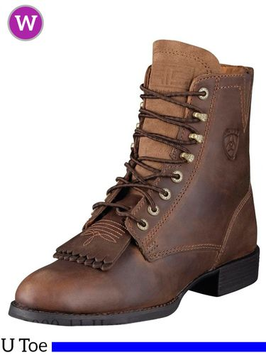Women's Ariat Heritage Distressed Brown Lacer II Boots 10002147
