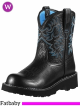 Women's Ariat Black Deertan Original Fatbaby Boots 10000833
