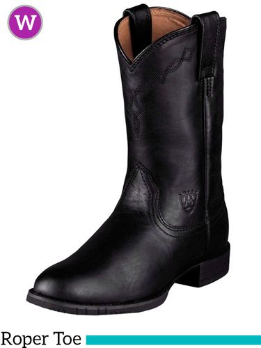 DISCONTINUED 6/10/2020 Women's Ariat Heritage Black Roper Boots 10000794