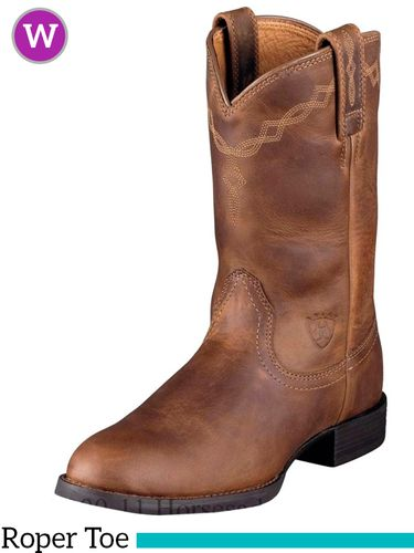 Women's Ariat Heritage Distressed Brown Roper Boots 10000797
