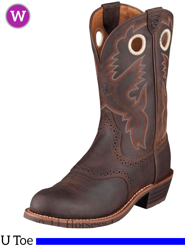 84465eb9107 Women's Ariat Heritage Antique Brown Roughstock Boots 10001594