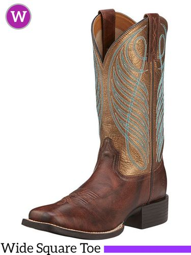 Women's Ariat Round Up Wide Square Toe Boots 10016317