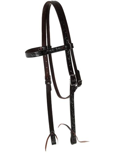 Big Horn Barbwire Tooled Headstall 3566