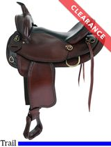 """17"""" Big Horn Texas Best Hill Country Trail II Saddle 940FQH, CLEARANCE"""