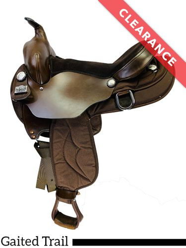 "17"" Big Horn Synthetic Gaited Saddle 310, CLEARANCE"