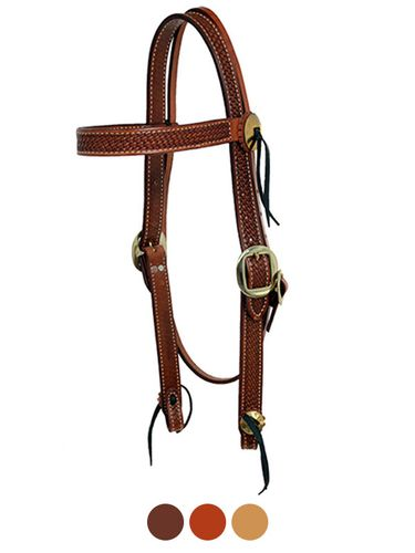 Billy Cook Basketweave Browband Headstall 11-743