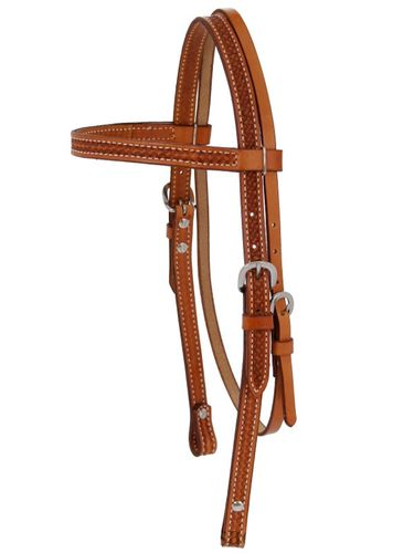 Billy Cook Browband Headstall w/Camo Border Tooling 11-804