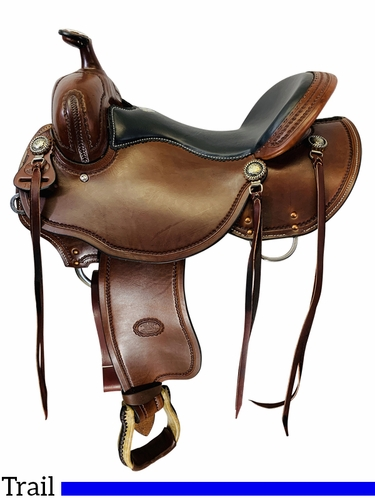 "15"" to 17"" Billy Cook Low Profile BW Trail Saddle 1990"