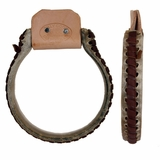 Billy Cook Iron Oxbow Rawhide Covered Stirrups 15-341