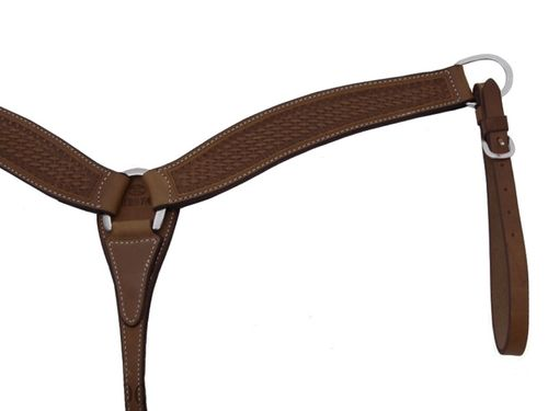 Billy Cook Shaped Basketweave Breast Collar 12-974