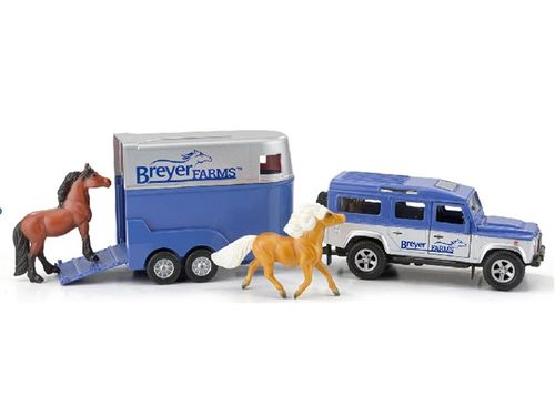 Breyer Farms Land Rover and Tag-A-Long Trailer 59216