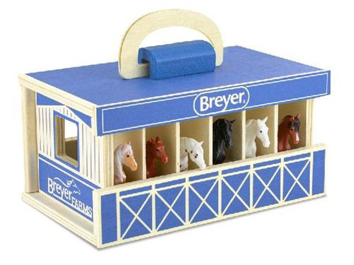 Breyer Farms Blue Wooden Carry Stable 59217