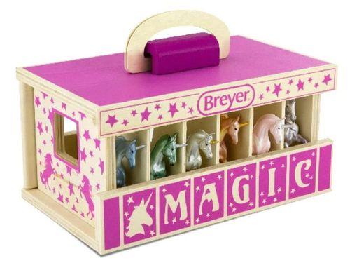 Breyer Farms Pink Wooden Carry Stable 59218